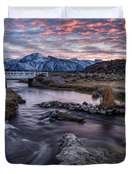 Sunset At Hot Creek Duvet Cover