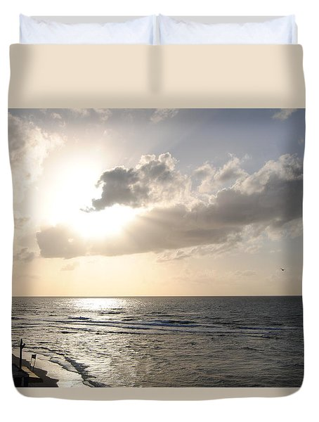 Sunset At Jaffa Beach 17 Duvet Cover