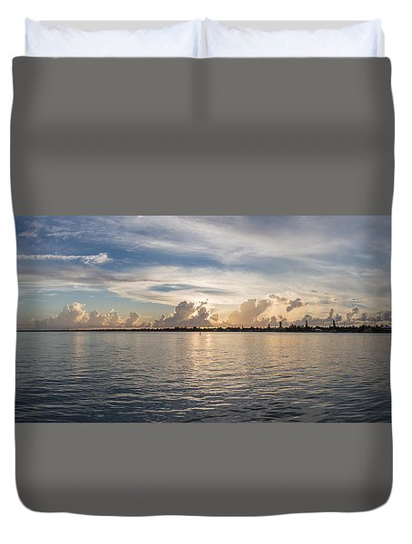 Sunset At Key Largo Duvet Cover