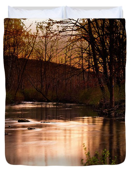 Sunset At King's River Duvet Cover by Tamyra Ayles