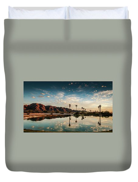 Sunset At Las Barancas Duvet Cover by Martina Thompson