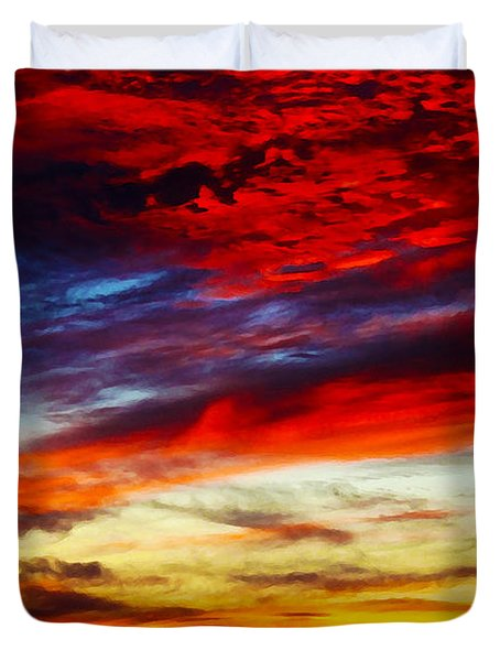 Sunset At Louie's Duvet Cover