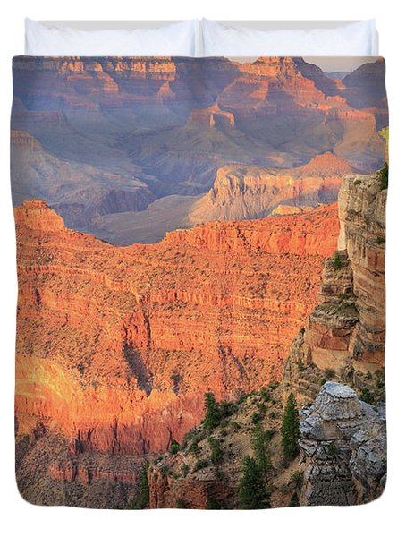 Sunset At Mather Point Duvet Cover