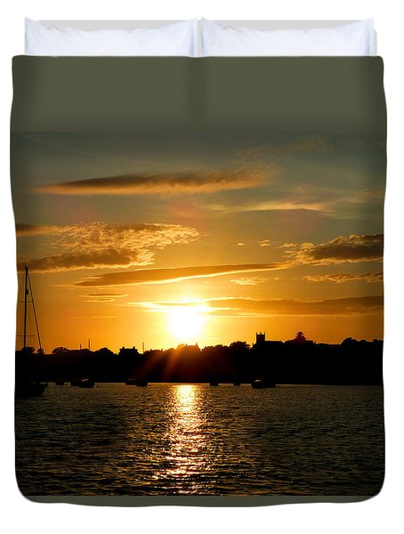 Duvet Cover featuring the photograph Sunset At Millport by Lynn Bolt