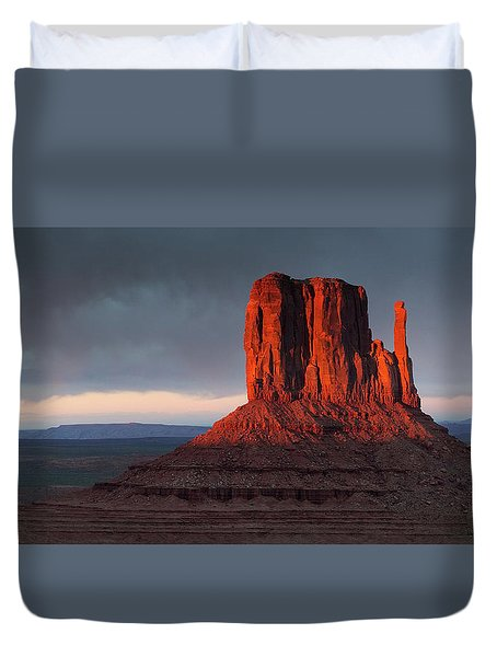 Sunset At Monument Valley Duvet Cover
