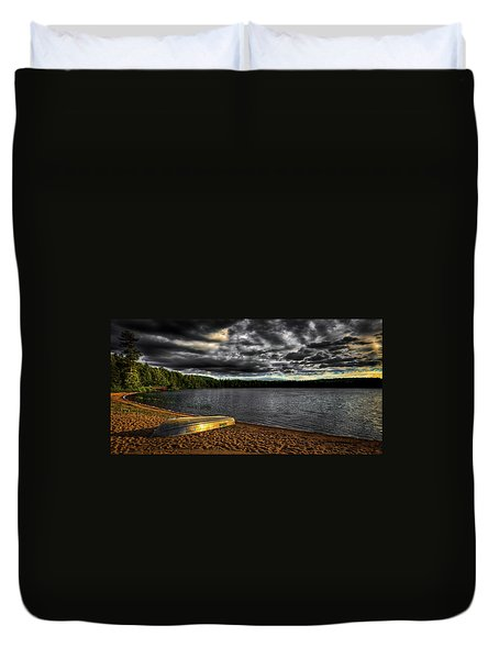 Sunset At Nicks Lake Duvet Cover by David Patterson