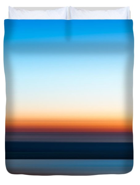 Sunset At Ottawa Lake Duvet Cover
