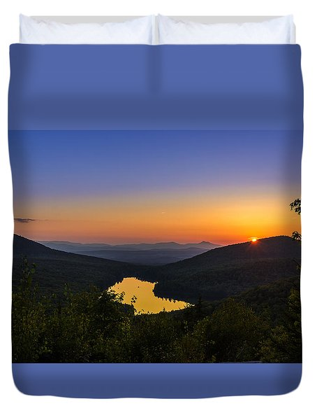 Sunset At Owls Head Duvet Cover by Tim Kirchoff