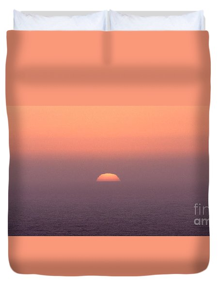Duvet Cover featuring the photograph Sunset At Pacifica by Peter Simmons