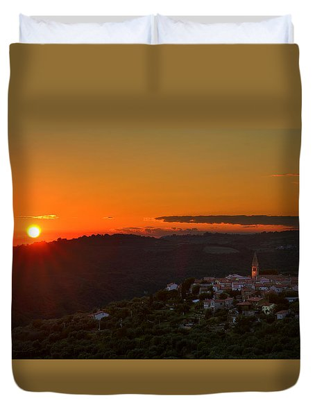 Sunset At Padna Duvet Cover