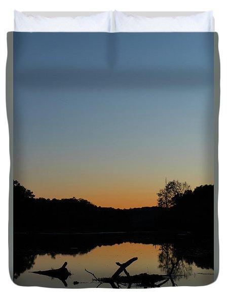 Sunset At Paulinskill Lake Duvet Cover