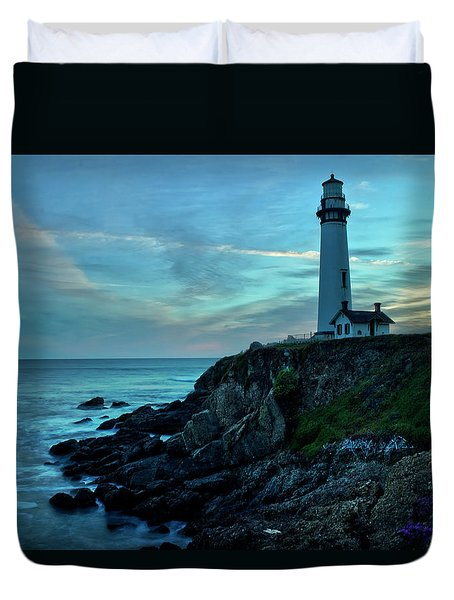 Sunset At Pigeon Point Duvet Cover