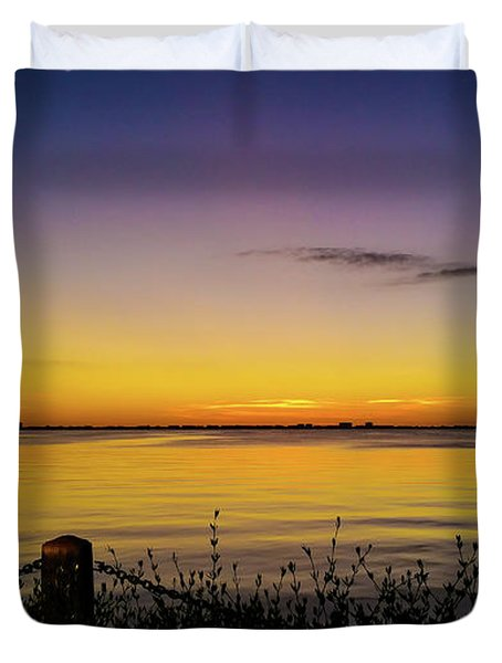 Sunset At Ringling Mansion 2 Duvet Cover