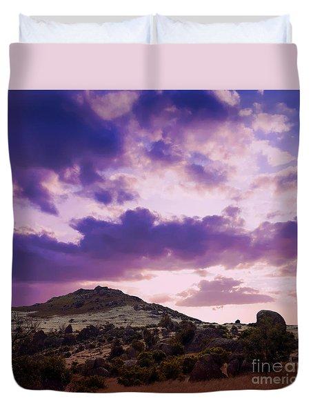 Sunset At Rocky Point  Duvet Cover