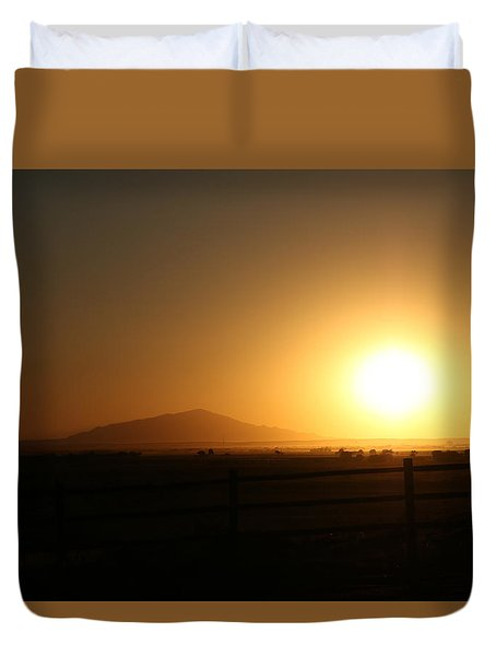Sunset At Roswell New Mexico  Duvet Cover