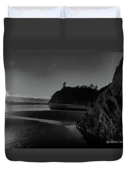 Sunset At Ruby Beach Duvet Cover