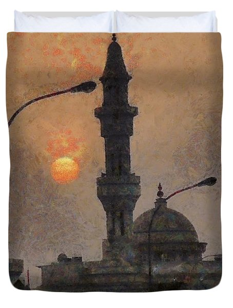 Sunset At Seeb Duvet Cover