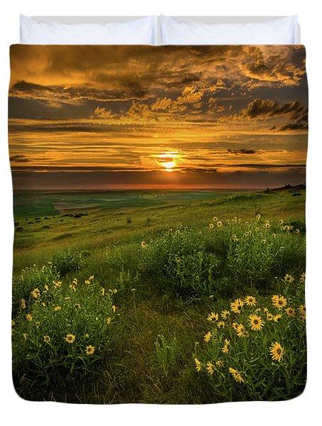 Sunset At Steptoe Butte Duvet Cover
