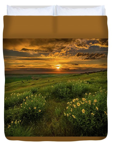 Sunset At Steptoe Butte Duvet Cover