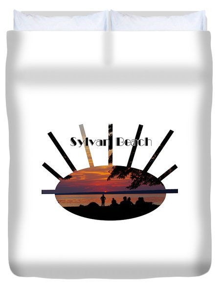 Sunset At Sylvan Beach - T-shirt Duvet Cover