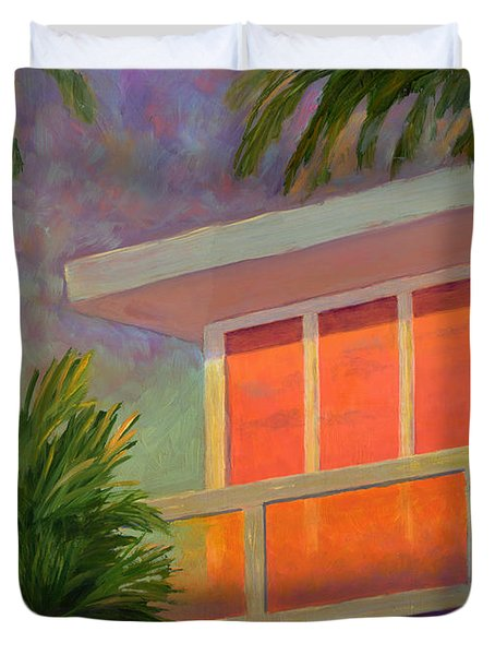 Sunset At The Beach House Duvet Cover
