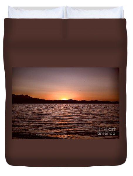 Sunset At The Lake 2 Duvet Cover