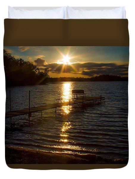 Sunset At The Lake Duvet Cover