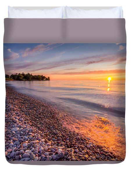 Sunset At The Loop  Duvet Cover
