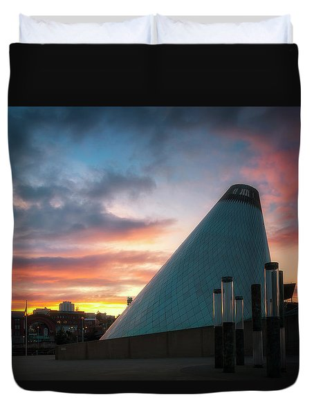 Sunset At The Museum Of Glass Duvet Cover