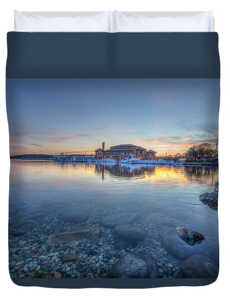 Sunset At The Riviera Duvet Cover