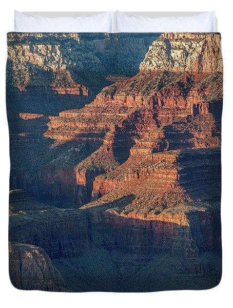 Sunset At The South Rim, Grand Canyon Duvet Cover
