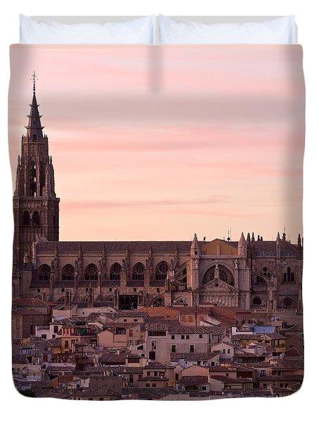 Sunset At Toledo Duvet Cover