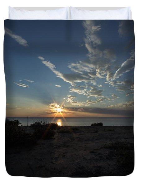 Sunset At Torrey Pines Duvet Cover