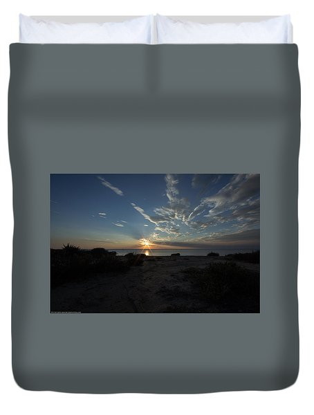 Sunset At Torrey Pines Duvet Cover