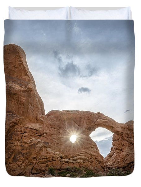 Sunset At Turret Arch Duvet Cover