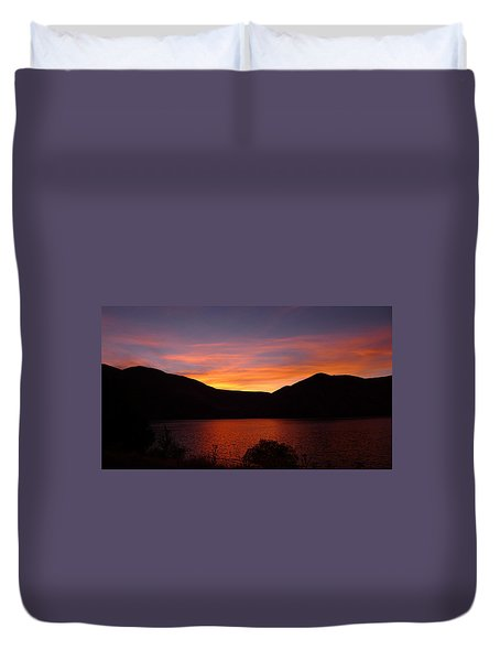 Sunset At Woodhead Campground  Duvet Cover by Joel Deutsch