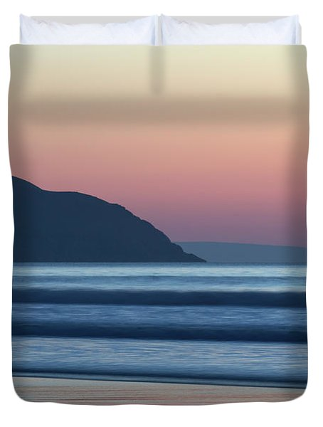 Sunset At Woolacombe Duvet Cover