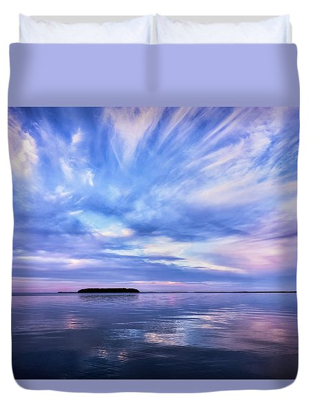 Sunset Awe  Signed Duvet Cover