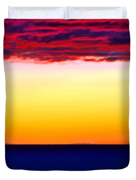 Sunset Background Duvet Cover