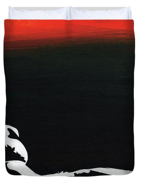 Sunset Bathing  Duvet Cover