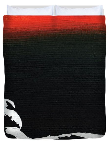 Sunset Bathing  Duvet Cover