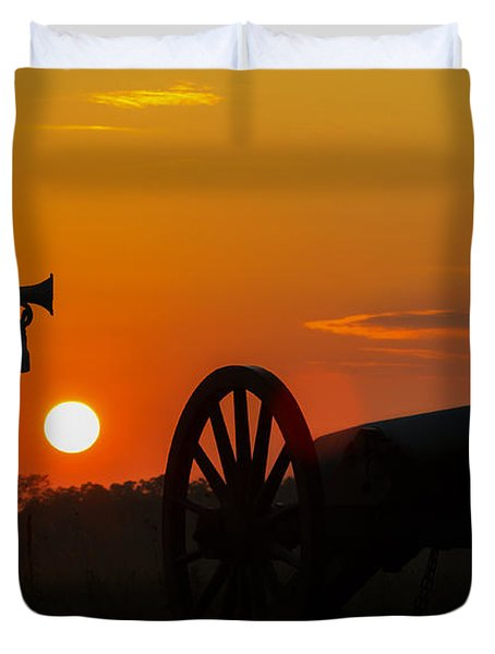 Sunset Battlefield Taps Duvet Cover by Randy Steele