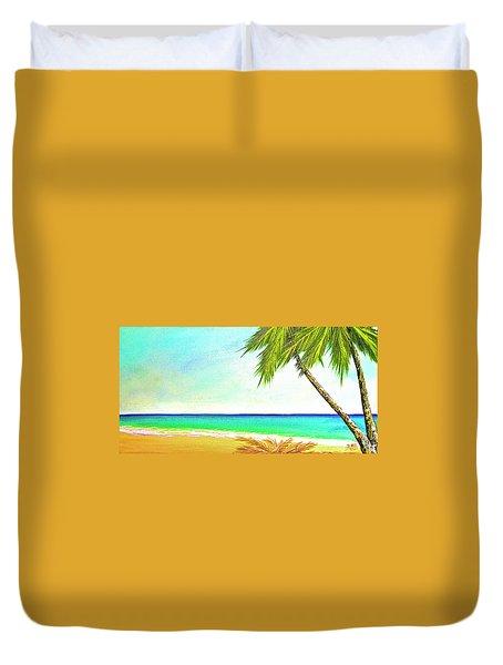 Sunset Beach #373 Duvet Cover by Donald k Hall