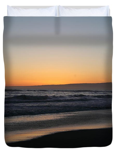 Sunset Beach California Duvet Cover by Amanda Barcon