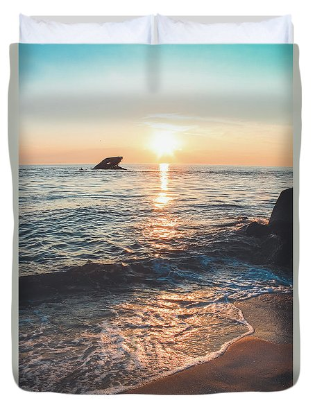 Sunset Beach - Cape May Duvet Cover by Colleen Kammerer