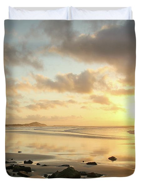 Sunset Beach Delight Duvet Cover