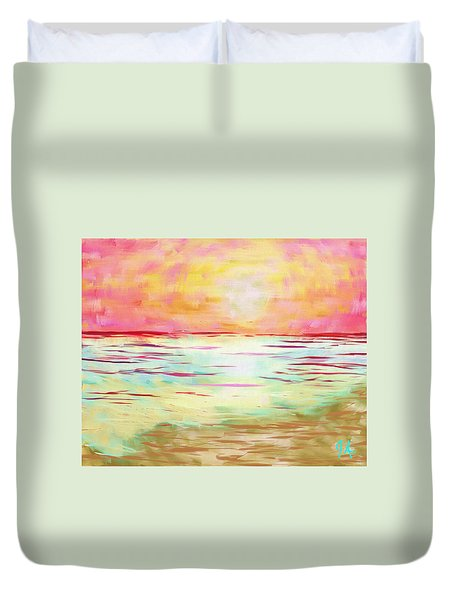 Sunset Beach Duvet Cover by Jeremy Aiyadurai