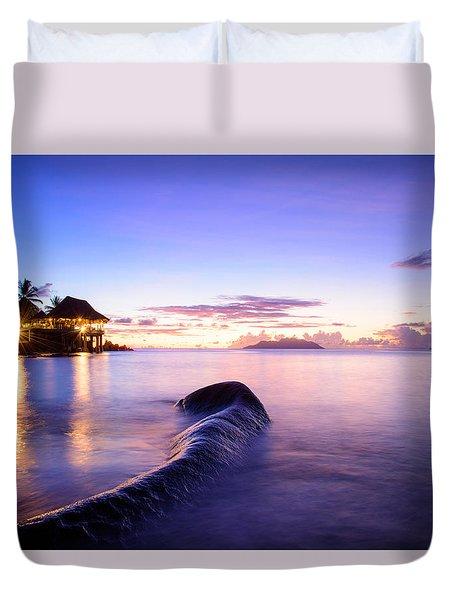 Sunset Beach Sunset Duvet Cover