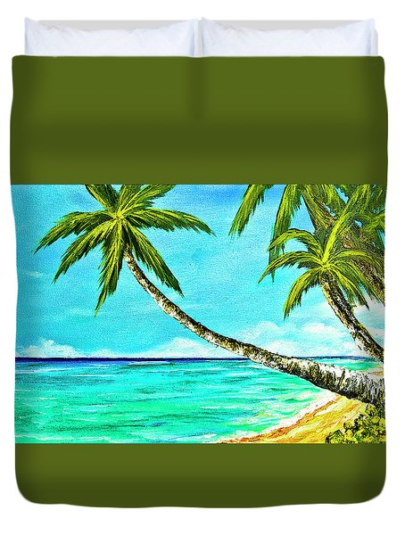 Sunset Beach#370  Duvet Cover by Donald k Hall