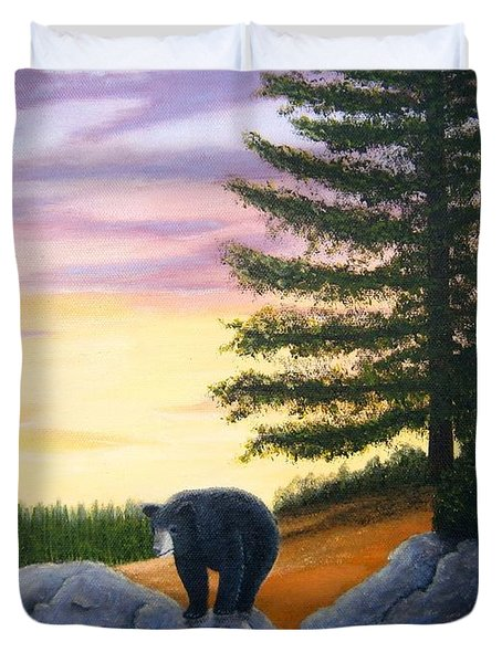 Sunset Bear Duvet Cover